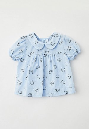 Блуза Ete Children. Цвет: голубой
