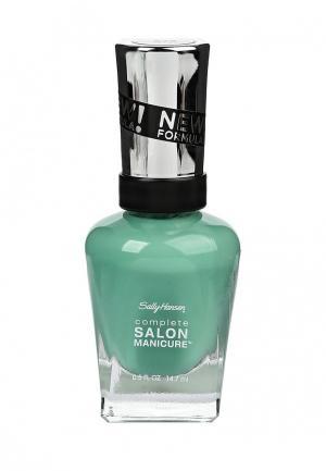 Лак для ногтей Sally Hansen Salon Manicure Keratin, тон 672 jaded, 14,7 мл. Цвет: бирюзовый