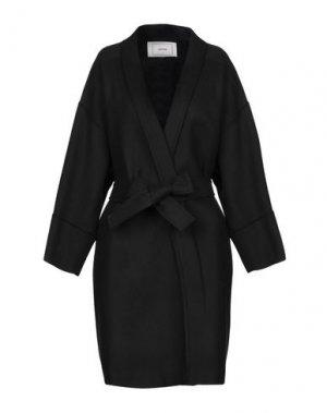 Пальто MAURO GRIFONI. Цвет: черный
