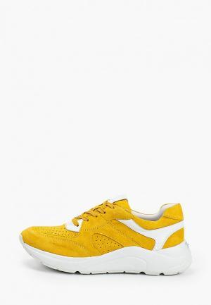 Кроссовки Caprice. Цвет: желтый