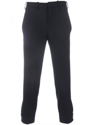 Классические брюки с подвернутыми манжетами Neil Barrett. Цвет: синий
