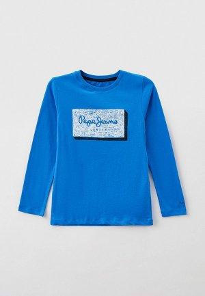 Лонгслив Pepe Jeans ASIER. Цвет: голубой