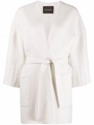 Пальто с поясом Iris Von Arnim. Цвет: белый