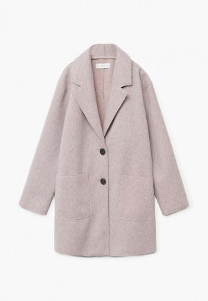 Пальто Mango Kids - PANO. Цвет: розовый