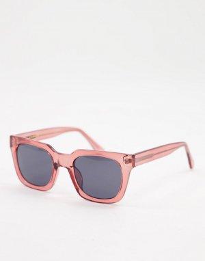 Красные квадратные солнцезащитные очки в стиле унисекс Nancy-Красный A.Kjaerbede