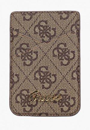 Кредитница Guess Магнитный Wallet Cardslot Magsafe 4G Trangle logo Brown. Цвет: коричневый