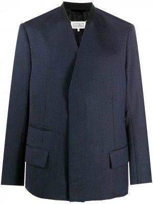 Пиджак без воротника Maison Margiela. Цвет: синий