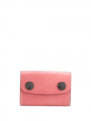 Double buttoned stitch detail wallet Ann Demeulemeester. Цвет: розовый