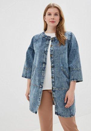 Куртка джинсовая Grafinia. Цвет: синий