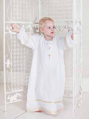 Рубашка Ангел мой. Цвет: белый, золотистый