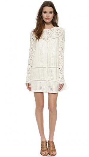 Необработанное платье JETSET. Цвет: белый