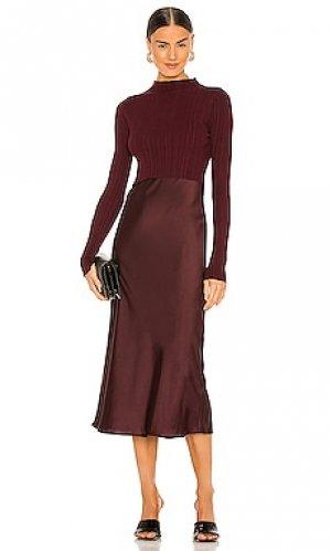 Макси платье karla ALLSAINTS. Цвет: вишня