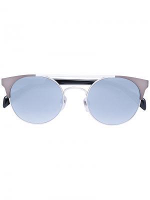 Солнцезащитные очки DL0218S Diesel. Цвет: металлический
