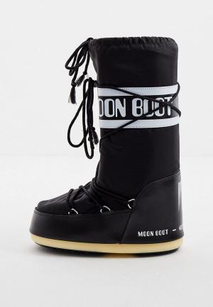 Луноходы Moon Boot. Цвет: черный