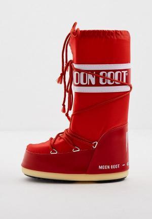 Луноходы Moon Boot. Цвет: красный