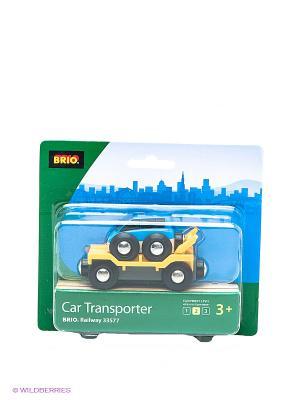 Прицеп-эвакуатор с машинкой BRIO. Цвет: желтый, синий, черный