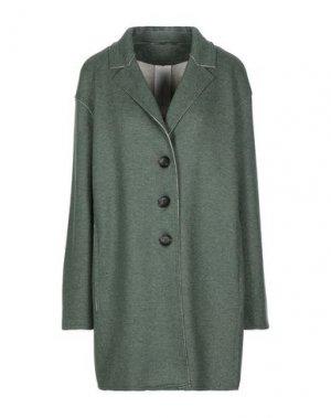 Пальто MANUELA CONTI. Цвет: зеленый-милитари