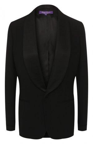 Шерстяной жакет Ralph Lauren. Цвет: черный