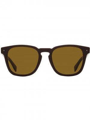 Солнцезащитные очки в квадратной оправе Fendi Eyewear. Цвет: коричневый