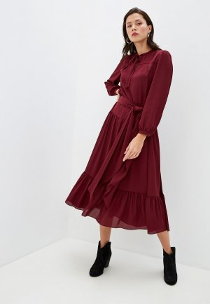 Платье Terekhov Girl. Цвет: бордовый