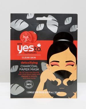 Детоксифицирующая бумажная маска с экстрактом древесного угля Yes To Tomatoes-Бесцветный