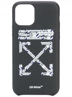 Чехол для iPhone 11 Pro с принтом Off-White. Цвет: черный