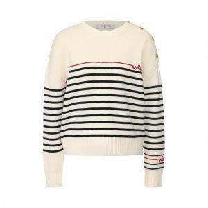 Шерстяной пуловер Valentino. Цвет: белый