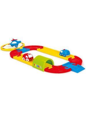Игровой набор круговая дорога с машинками 24 детали Dolu.. Цвет: красный