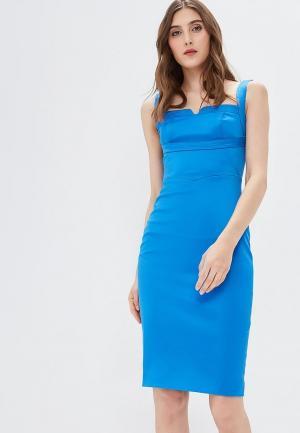 Платье Karen Millen. Цвет: голубой