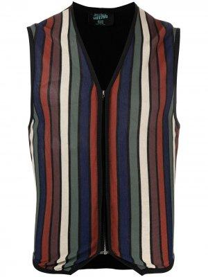 Полосатый жилет 1990-х годов Jean Paul Gaultier Pre-Owned. Цвет: черный