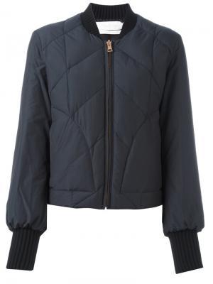 Стеганая куртка-бомбер See By Chloé. Цвет: синий