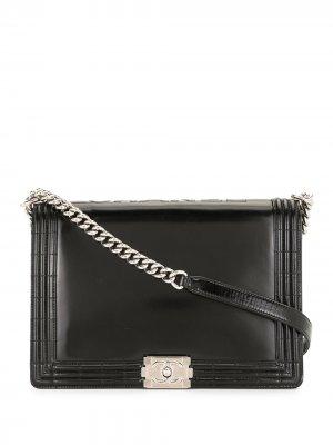 Большая сумка на плечо Boy Chanel Pre-Owned. Цвет: черный