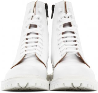White Lug Sole Combat Boots Common Projects. Цвет: 0506 white