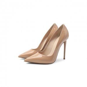 Кожаные туфли Le Silla. Цвет: бежевый