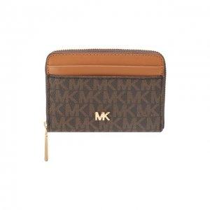 Кожаное портмоне Mott MICHAEL Kors. Цвет: коричневый