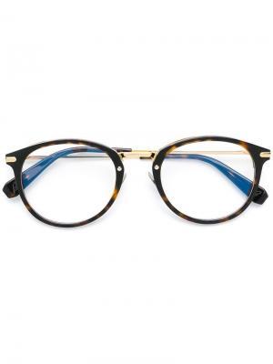 Round-frame glasses Brioni. Цвет: коричневый