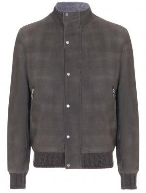 Куртка кожаная с мехом альпака SERAPHIN