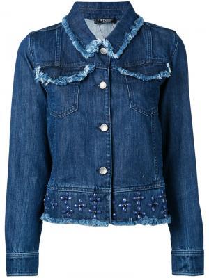 Джинсовая куртка с отделкой заклепками Twin-Set. Цвет: синий