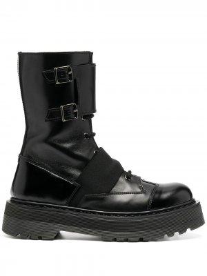 Ботинки с пряжками Premiata. Цвет: черный