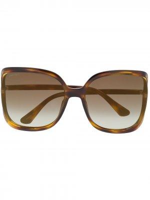 Солнцезащитные очки Tilda в массивной оправе Jimmy Choo Eyewear. Цвет: коричневый