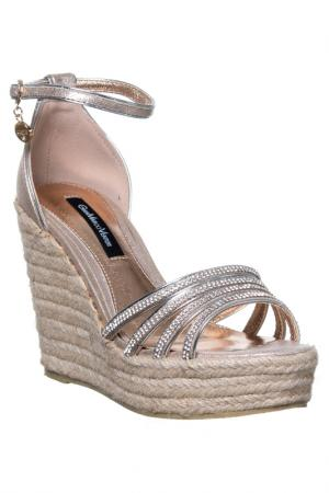 Wedge sandals GianMarco Venturi. Цвет: gold