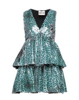 Короткое платье ANIYE BY. Цвет: светло-зеленый