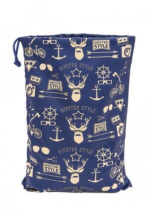 Мешок для хранения Homsu Hipster Style Premium. Цвет: синий
