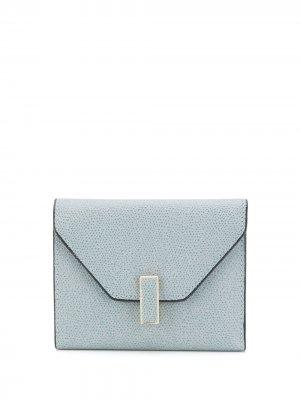 Кошелек-конверт Iside Valextra. Цвет: синий