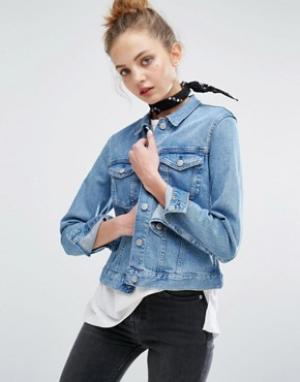 Джинсовая куртка Shrunken Weekday. Цвет: синий