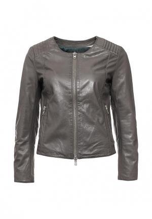 Куртка кожаная Blouson BL033EWQGN37. Цвет: серый