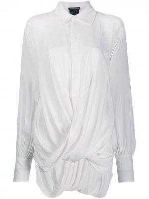 Рубашка с драпировкой Ann Demeulemeester. Цвет: розовый