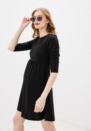 Платье Hunny mammy. Цвет: черный