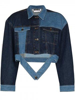 Джинсовая куртка Sara ROTATE. Цвет: синий
