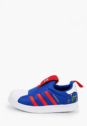 Слипоны adidas Originals SUPERSTAR 360 C. Цвет: синий